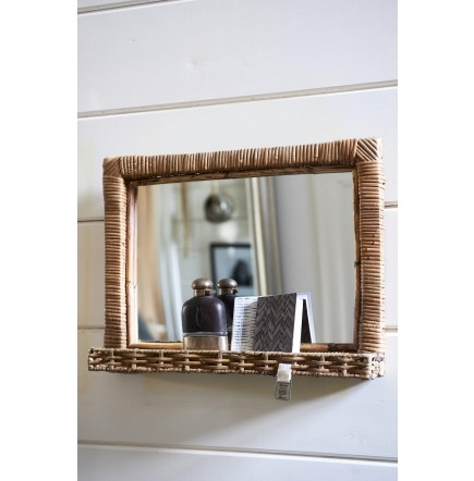 Rustic Rattan Hall Mirror M