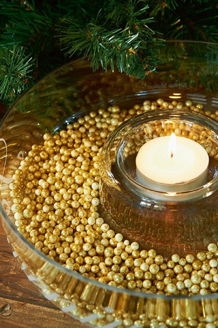 Fabulous Faux Decoration Pearls Gold