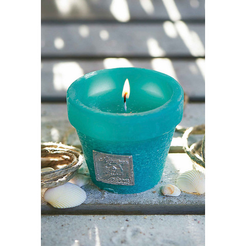 Planter Candle turquoise