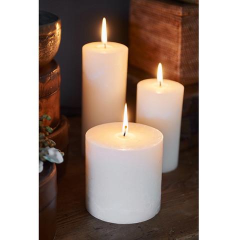 Rustic Basic Ivory Candle 10x10