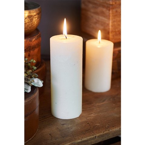Rustic Basic Ivory Candle 7x18