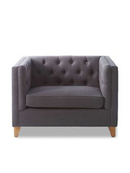 Manhattan Love Seat linen Antracite