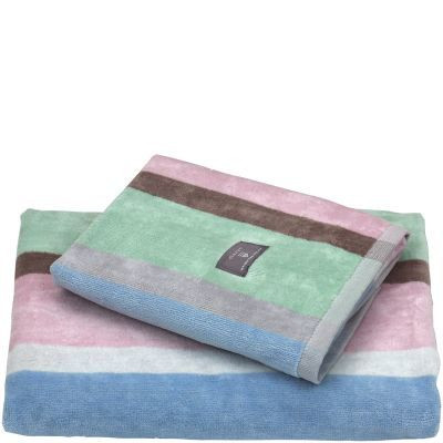 Boston Stripe pyyhe Nantucket Pink