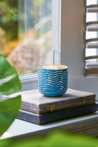 Sylt Weave Votive light blue