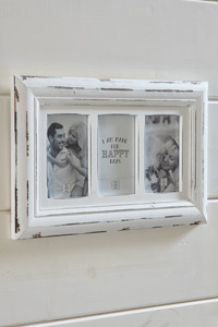 Port Grimaud Triple Photo Frame white