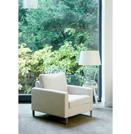 West Houston Armchair, polyesterpolyacryl, pearl