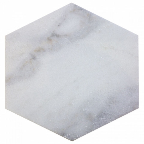 Marble plate hexagon 20x21