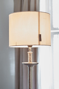 Basic Lampshade white linen