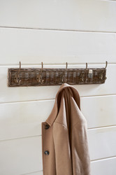 Rustic Rattan Lobby Coathanger