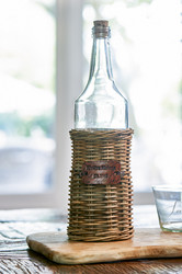Rustic Rattan Bottle Small