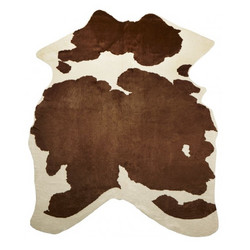 Viking Fake rug Brown and white
