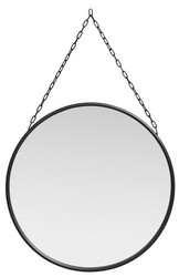 Downtown mirror round black