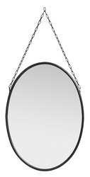 Downtown mirror oval black