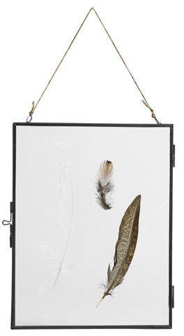 Metal frame hanging black L