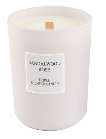 Scented candles Sandalwood-Rose