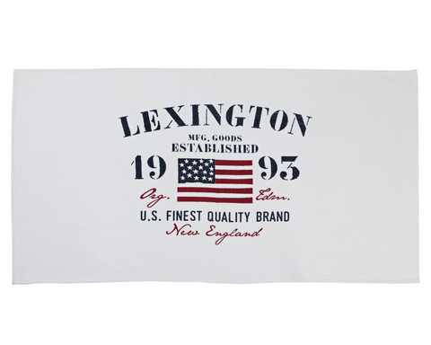 Lexington Velour Beach Towel White