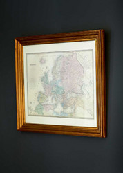 L 'Europe Map Gold 57X51