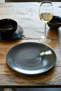 Delicious Dinner Plate black