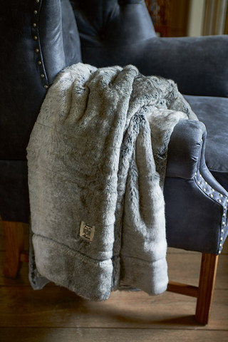 RM Chinchilla Faux Fur Throw 170x130