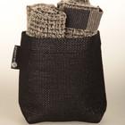 Textile storage box Black