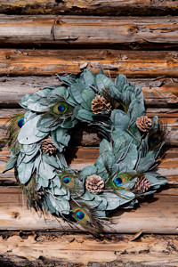 Precious Peacock Wreath 50cm