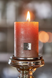 Rustic Candle burned rose 7x10