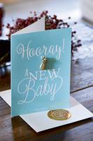 Postcard Hooray Baby +envelope