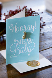 Postcard Hooray Baby +envelope