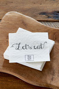 Paper Napkin Let's Eat