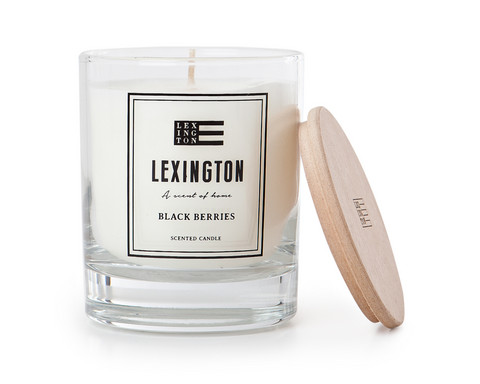 Scented Candle With Wooden Lid Black Berries