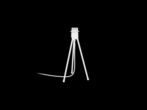 Tripod Table matt white