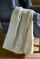 Magic Mohair Throw Velvet Border cream 170x130