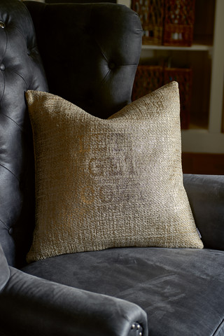 RM Let's Get Cozy Pillow Cover gold 50x50