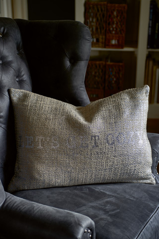 RM Let's Get Cozy Pillow Cover silver 65x45