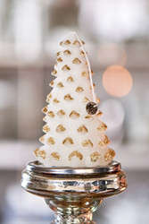 Christmas Tree Candle gold M