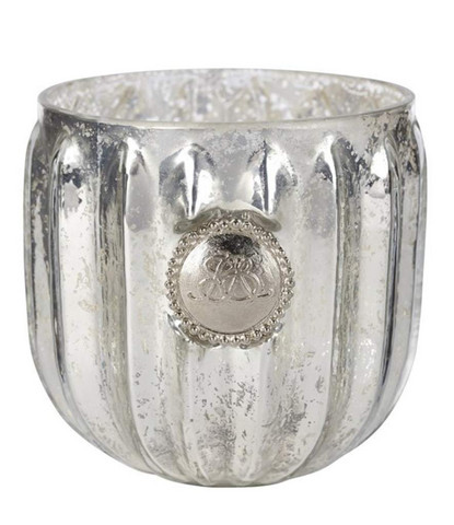 Dante Tealight L Antique Silver