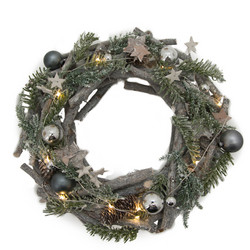 Wreath Havu & Oksa L With LED light