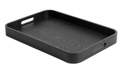 Serving tray Ash wood Black