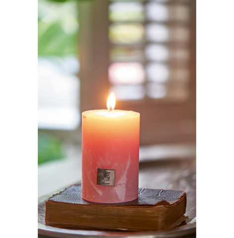 Rustic pink Candle 7x10