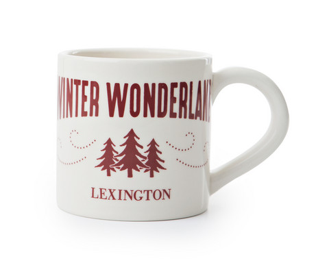 Winter Wonderland Mug White-Red