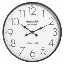 Clock for wall, Black, Antiquité