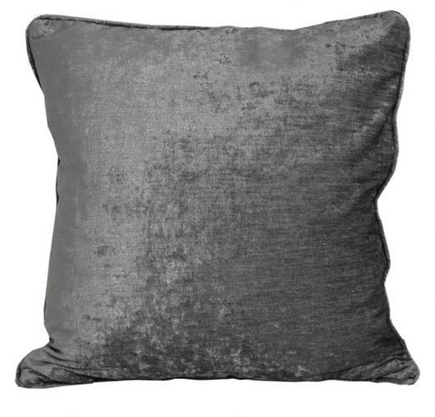 Belgrad Velvet Cushion Cover Grey/silver 45x45
