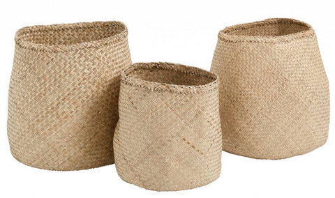 Set of Seagrass baskets, natural, Nordal