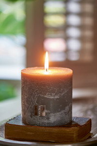 Rustic Grey Candle 10x10