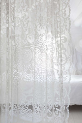 Blackbird curtain White 140x260