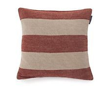 Block Striped Sham Rusty Red/Beige