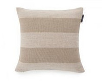 Block Striped Sham White/Beige