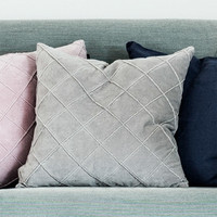 Cushion Cover Velvet Light Grey 47 x 47