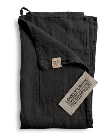Lovely Linen Kitchen Towel Dark Grey 45x70