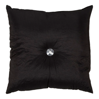 Fanni Cushion with decorative button Black 45x45